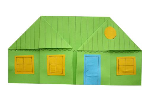 Как сделать дом из бумаги фотки
